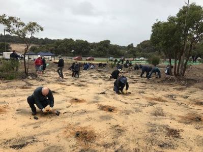Local community undertaking planting