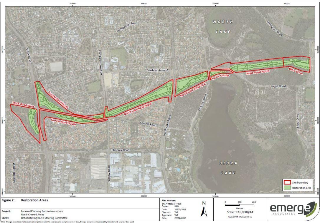 Restoration areas map capture